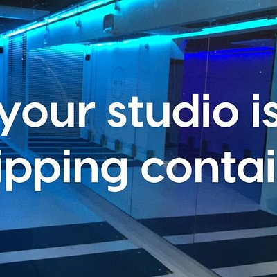 Our studio is in 3 shipping containers and can hold 24 guests at a time.