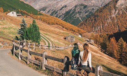 La strada che da Val Federia porta a Livigno