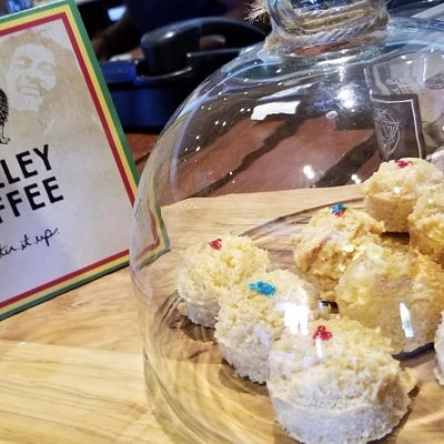Kaya Cafe @ the Kaya Herb House - We had some special MARLEY coffee and treats. We invited Everton to join us in the KAYA experience! #jamaica #420