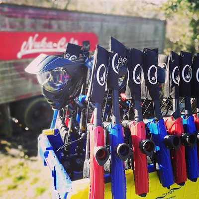 We use 50cal paintballs for a softer impact, great for the younger kids to play paintball and have fun!