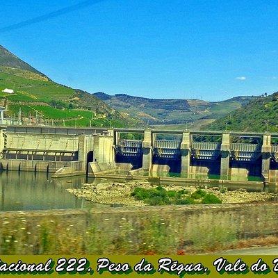 Barragem da Régua, N222, Vale do Douro, Portugal