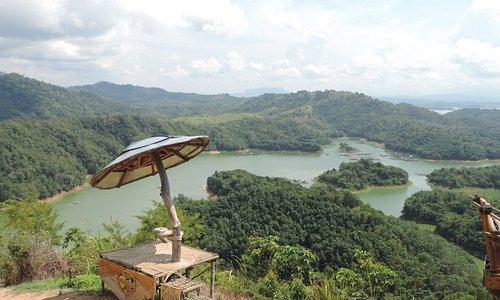 Riam Kanan lake taken from Matang Kaladan