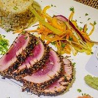 Delicious Tuna Tataki with Coconut Rice