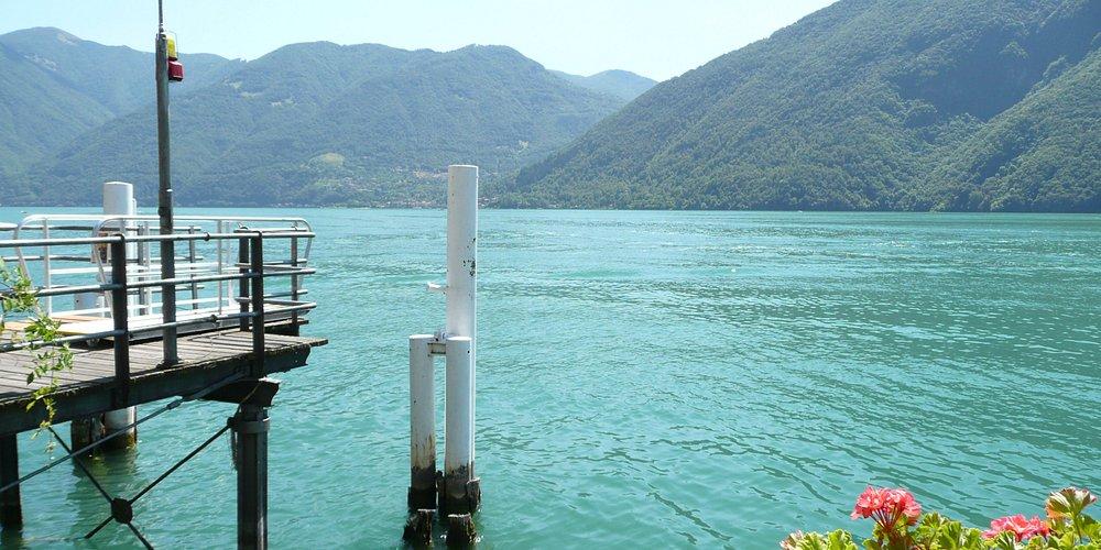 San Mamete Valsolda's ferry dock