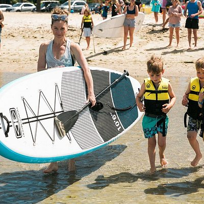 Stand Up Paddle with the kids at Altona beach