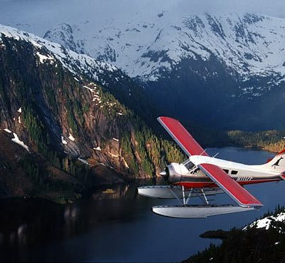 Island Wings flying through the Misty Fjords National Monument