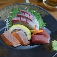 Wonderfully fresh sashimi