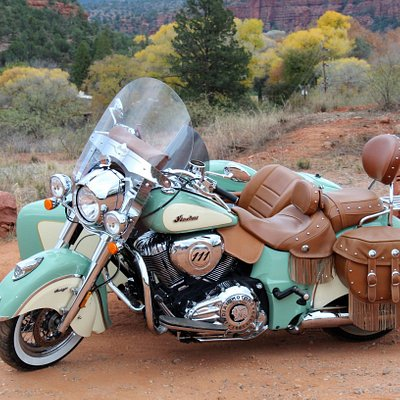 Willow is a 2017 Indian Chief Vintage with a 1811cc engine. She's radioactive!