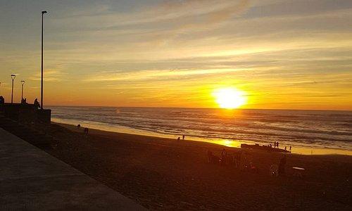 Coucher du soleil ce jour du 1 novembre 2018