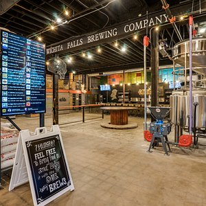 Interior photograph of Wichita Falls Brewing Co, courtesy of Justin Goode.