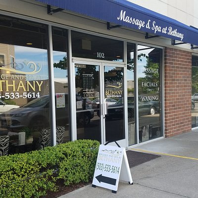 The front of our spa! Located just a street behind QFC!