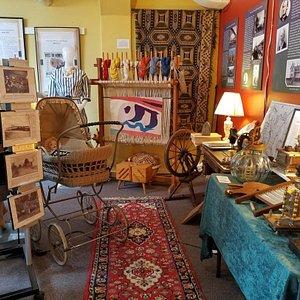 A women's textile exhibit