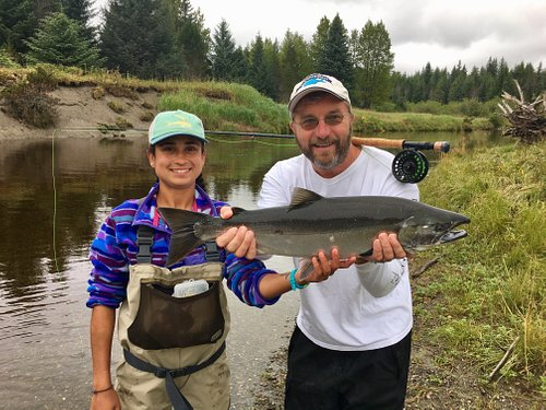 Natalie and her client with a beautiful Silver on the fly!