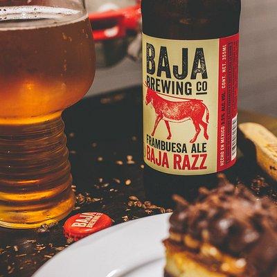 Baja Razz + tarta de chocolate