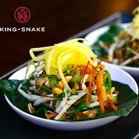 Spinach Leaf with Roasted Coconut