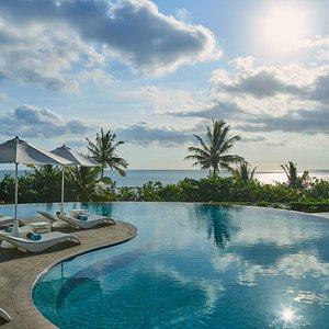 Pool overlooking to legendary Kuta Beach