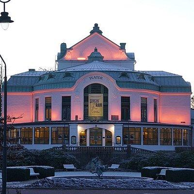 Kristianstads Teater i vinterskrud