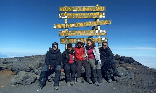 At 5896m Mt Kilimanjaro, Africa's highest mountain and one of the continent's magnificent sights