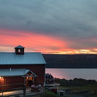 Brewpub with fantastic sunset photo by Allison Usavage.