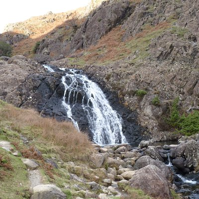 One of a series of waterfalls beside the path up to Easedale Tarn
