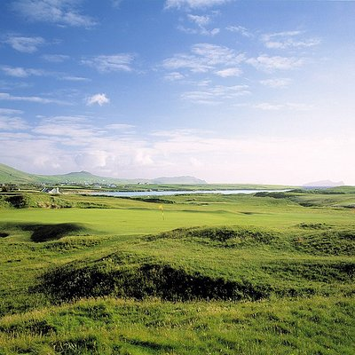 The view that awaits you when you play Ceann Sibeal Dingle Links Golf Club
