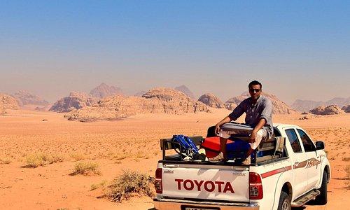 Touring. in the desert.