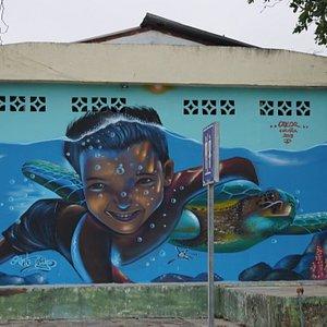 Murales en Puerto Cayo