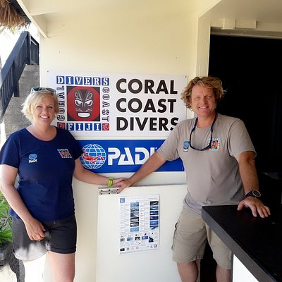 Owners of Coral Coast Divers Alike & Gabriel