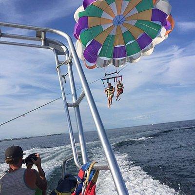 Parasailing at Hampton Beach in New Hampshire