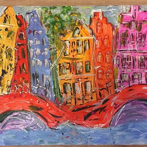 Creatieve workshop Haarlem: Workshop Haarlemse grachtenpandjes schilderen