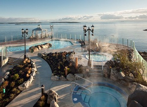 The Boathouse Spa's Mineral Baths, open from 9:00 a.m. - 9:00 p.m. daily.