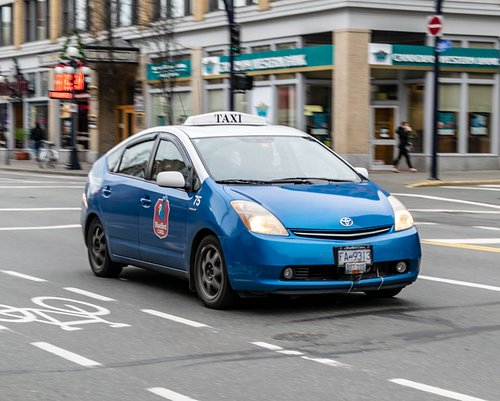 The Bluebird Cabs Prius I Rode In Later in the Day