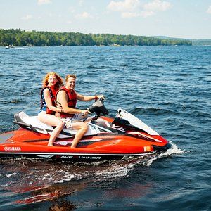 Access to 13 miles of Long Lake and 3 miles of Brandy Pond on one of our new Jet Ski Rentals in Naples Maine.