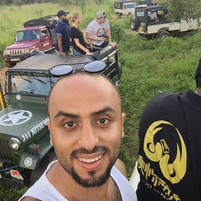 Jeep safari at habarana with nice Jordan friends