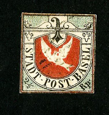 A stamp from Switzerland, catalog value over $46,000.00.