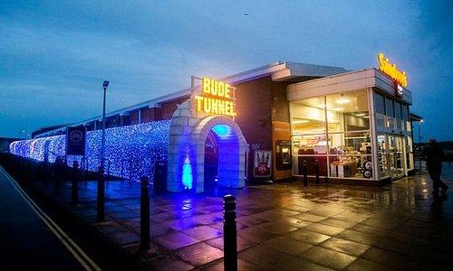 Bude tunnel at Christmas time