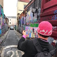 Great street photography tour of Stokes Croft with Colin Moody showing us where he took the photos for his new book