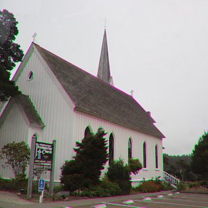 A church painted in white
