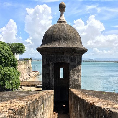 Sentry Boxes are iconic structures of Puerto Rico found on the walls and fortifications of Old San Juan.