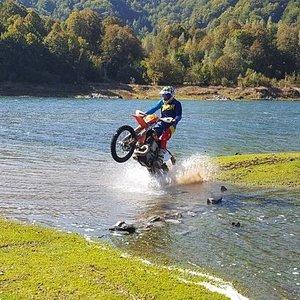 Wheelie water crossing