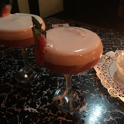 Strawberry and rose cocktail
