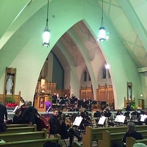 The orchestra prior to start of concert