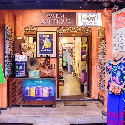 Warm Boutique Entrance.