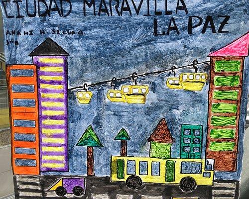 Artwork at the Teleferico Station