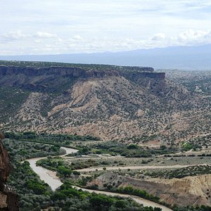 Valley of the Rio Grande and Rio Grande Gorge - looking South