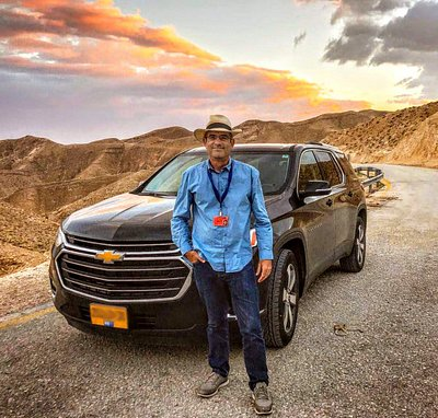 With my New SUV in the Judean Desert!