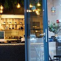 22 m2 specialty coffee shop.