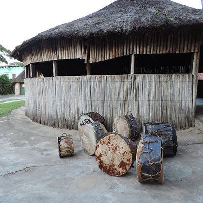 Drums made with skin and wood used during ceremonial dances