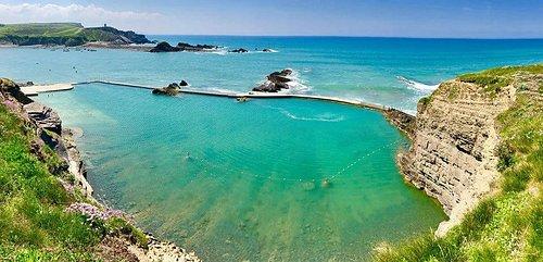 Bude Sea Pool, set in the cliffs on Summerleae Beach.