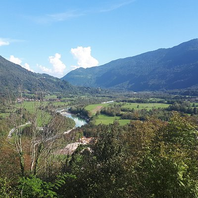 view of the Soca valley
